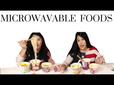 Microwavable Food Mukbang and Review