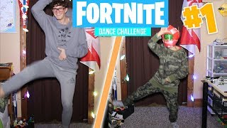 FORTNITE DANCE CHALLENGE WITH MY LITTLE BROTHER