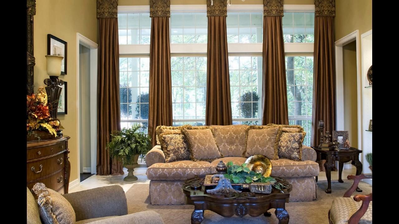window treatments for large windows  youtube