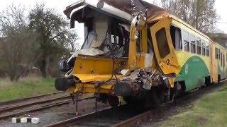 MJ 814.012-1/914.012-0 DKV Plzeň po MU | střet na přejezdu s kamiónem | depo Šumperk