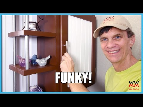 DIY Wood & Steel Wall Cabinet - Extra Funky!
