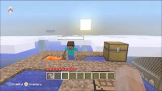 Xbox 360 Minecraft Skyblock: Ep 1 - Double Cobblestone Generator (Live Commentary)