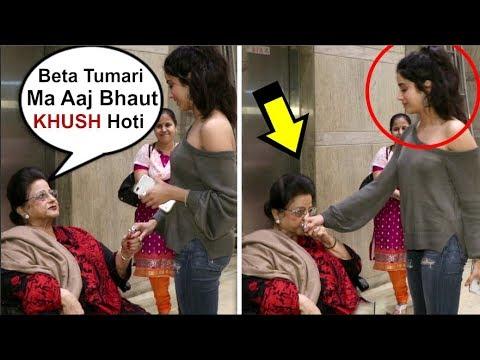 Jhanvi Kapoor's EMOTIONAL Moment With Grandmother After Missing Mom Sridevi At Dhadak Screening