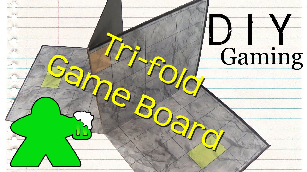DIY Gaming   How To Make A Tri Fold Gameboard   YouTube
