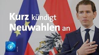 Nach Strache-Rücktritt: Kurz will vorgezogene Neuwahlen