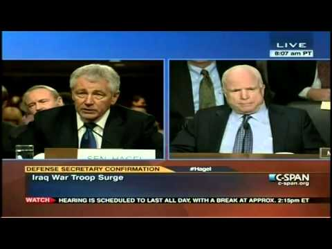 Hagel Won't Answer Voting Against the Troop Surge in Iraq