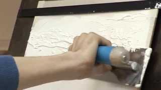 Штукатурка Травертин ТМ OZON - техника нанесения(Сергей Ласьков - руководитель компании ДекорСтен проводит мастер-класс по нанесению декоративной штукатур..., 2014-07-31T16:33:21.000Z)