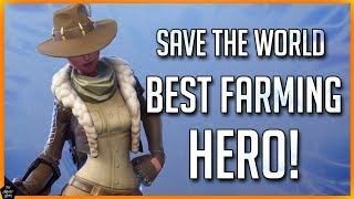 FORTNITE STW: BEST FARMING HERO! HOW TO FARM MATERIALS FAST & EASY!