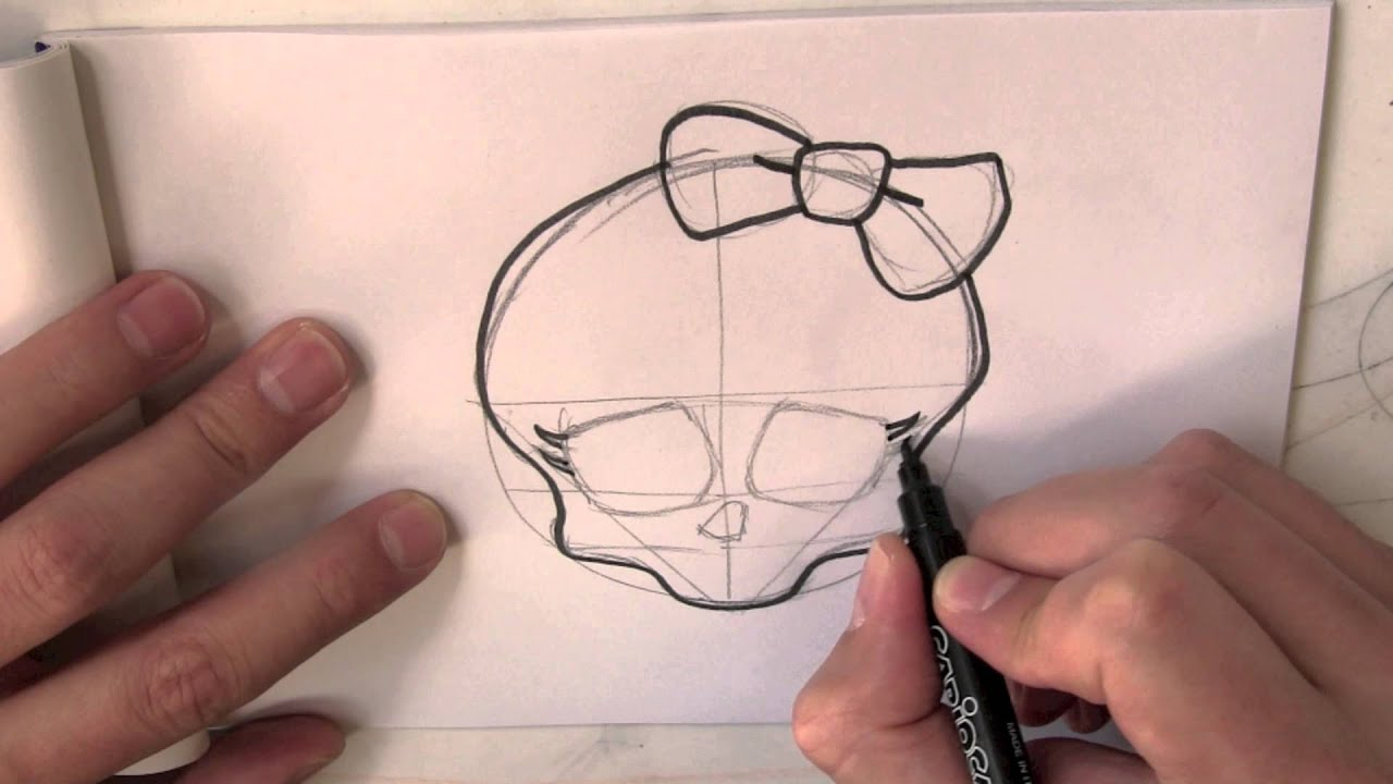 How to draw the skull from monster high step by step youtube biocorpaavc