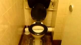 The Hamburger restaurant toilet at Great yarmouth seaside town