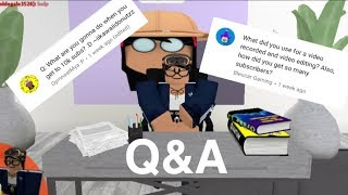 Q&A//Roblox//Bloxburg!