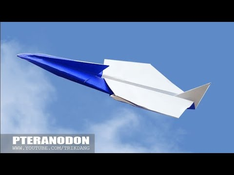SIMPLE PAPER AIRPLANE - How To Make An Origami Plane Pteranodon