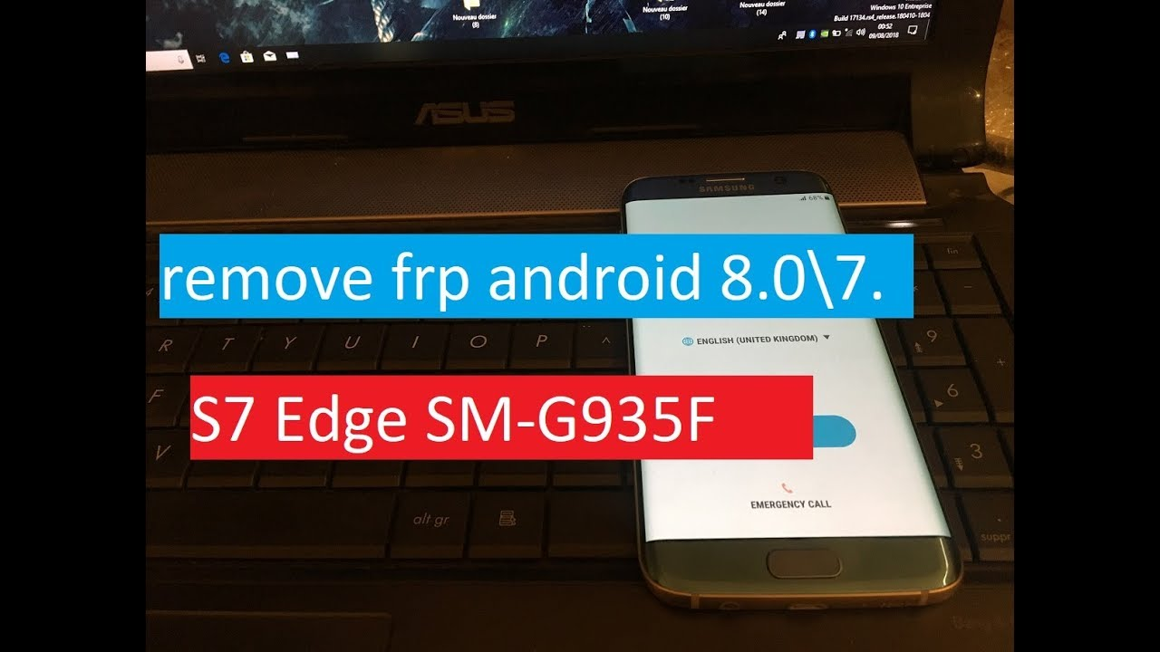 2018 💯%Samsung S7 Edge SM-G935F Android 8 Binary 2 Remove Google Account  Bypass FRP Without box