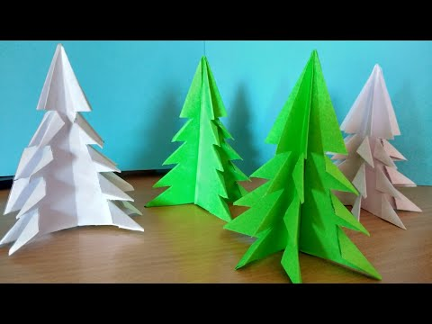 How to Make origami Paper Christmas tree🌲easy,Paper tree,Origami tree,Christmas decorations,
