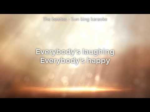 The beatles - Sun king Karaoke