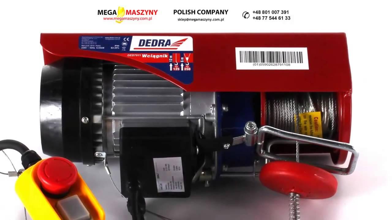 Genialny Wciągarka linowa elektryczna DEDRA DED7911 - YouTube RV11