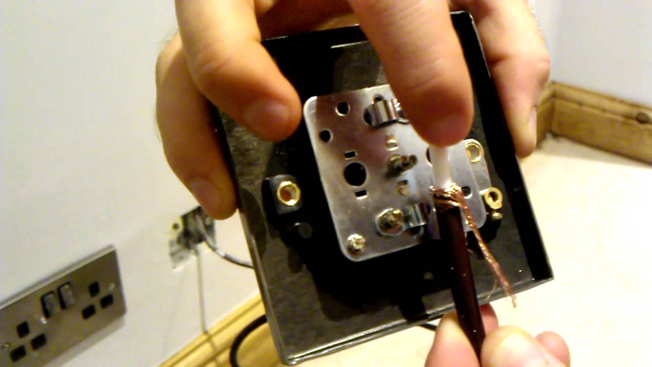 Coaxial Tv Ariel Cable Installation Tutorial Uk Youtube