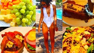 WHAT I EAT ON A CHEAT DAY TO LOSE WEIGHT - MY VACATION WEIGHT LOSS FOOD DIARY #7