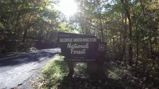Skyline Drive and van camping in Virginia