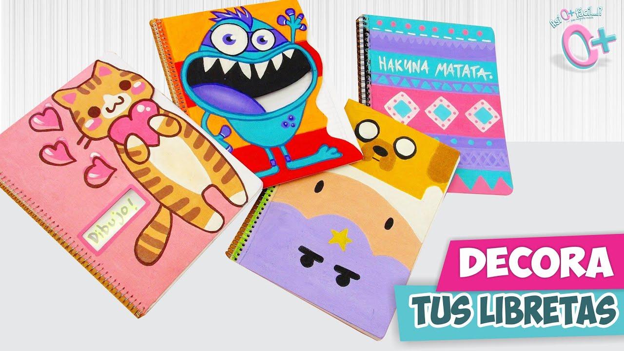 Portadas Para Cuadernos Decora Tus Libretas Con Dibujos: DECORA TUS CUADERNOS! Fácil Y Bonito ★Así O Más