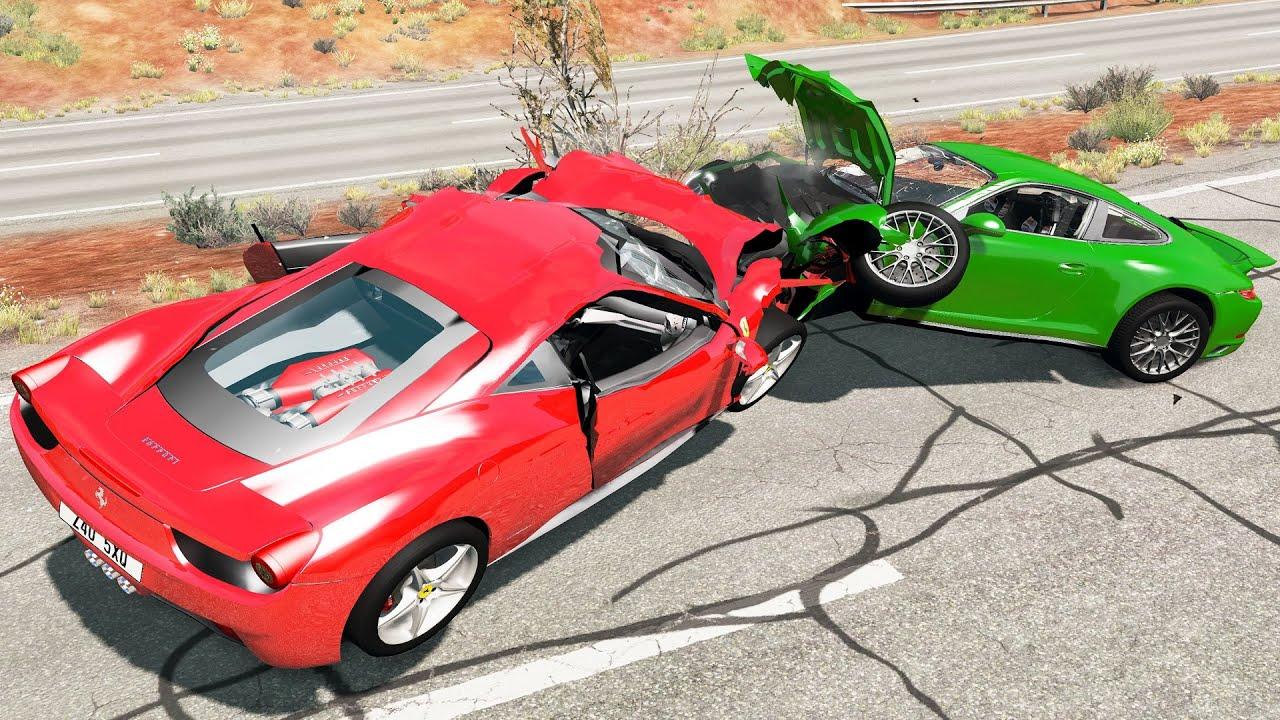 Crash Testing Realistic Car Mods  - Beamng Drive Car Crashes Compilation