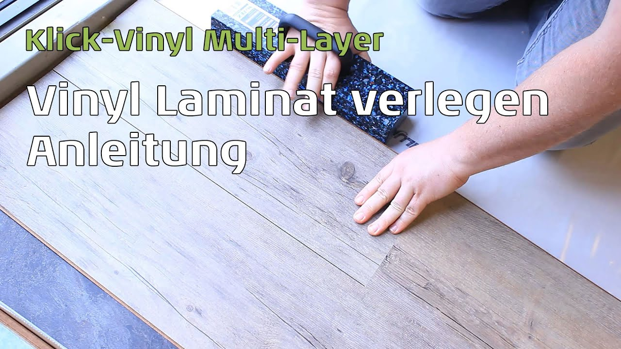 vinyl laminat mulit layer verlegen anleitung youtube. Black Bedroom Furniture Sets. Home Design Ideas