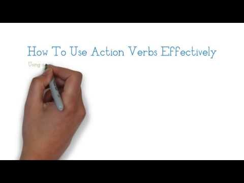 resume action verbs - Resume Action Verbs