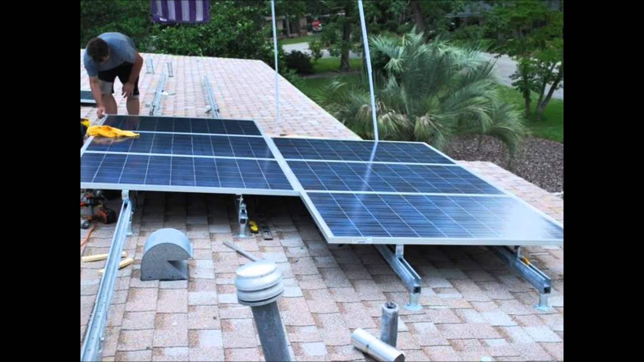 Diy Solar Panel Mount Diy Solar 5 Kw Roof System Installed In A Weekend Youtube