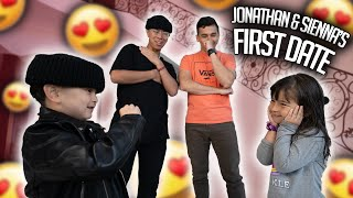 I PUT MY LIṪTLE BROTHER ON HIS FIRST DATE! **Jonathan & Sienna Finally Meet**