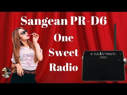 Most Excellent Sangean PR-D6 AM FM Portable Radio Review HD