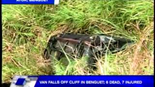 Van falls off ravine in Benguet, kills 6