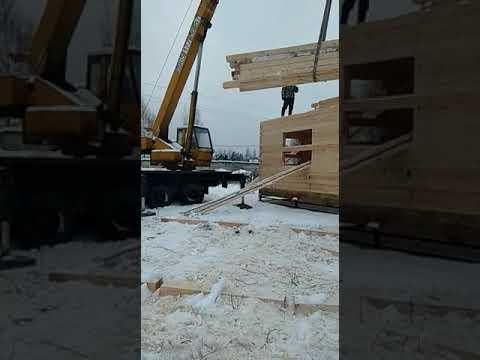 СК КосБруС - Галич строительство дома из бруса 8х9 Москва смотреть видео онлайн
