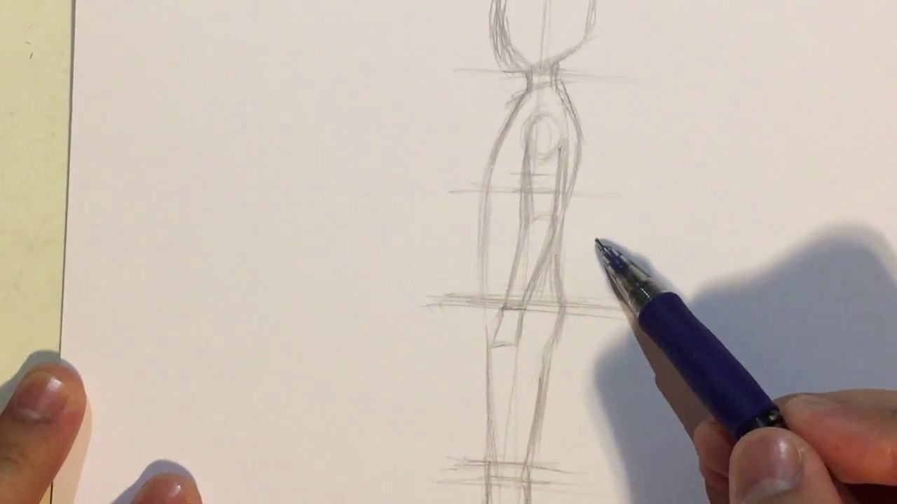 How To Draw Anime Boy Body Proportions Side View No Timelapse