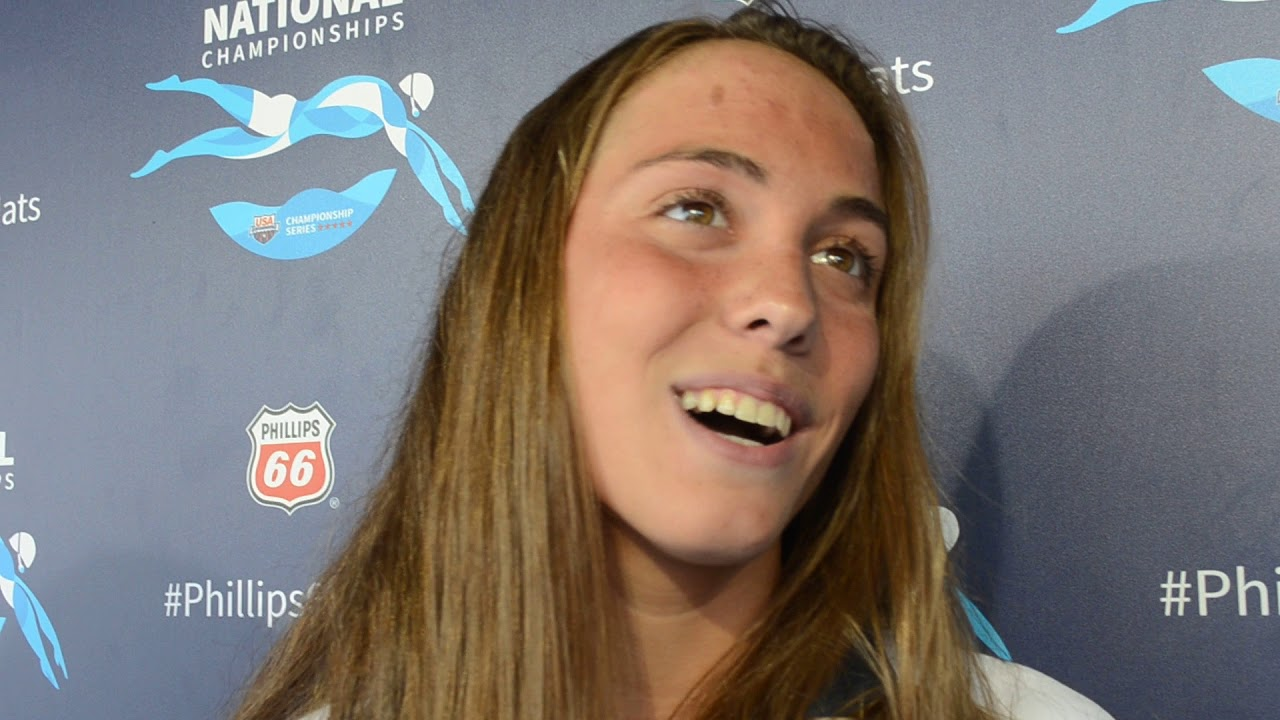 Emma Weyant Discusses 400 Im Win At Nationals Youtube