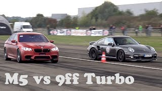 760HP BMW M5 F10 Gorilla Performance vs. 950HP 9ffPorsche 997 Turbo