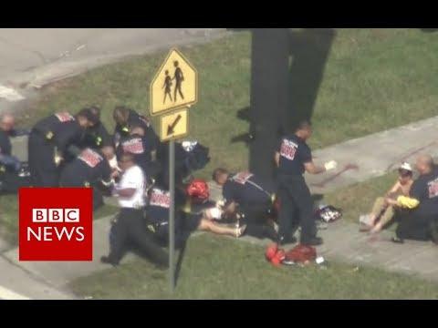 Florida shooting: Students describe fleeing as shots rang out- BBC News