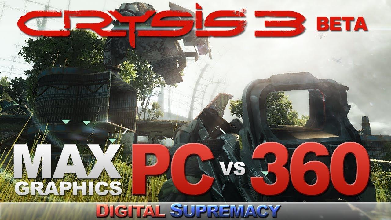 Crysis 3 graphics comparison pc maxed settings vs xbox 360 1080p - Crysis 3 Pc Vs Xbox 360 Comparison Maxed Graphics Settings Beta Youtube