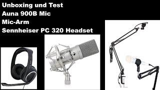Auna 900B + Sennheiser PC 320 Headset Hardware unboxing und Test [Deutsch HD]