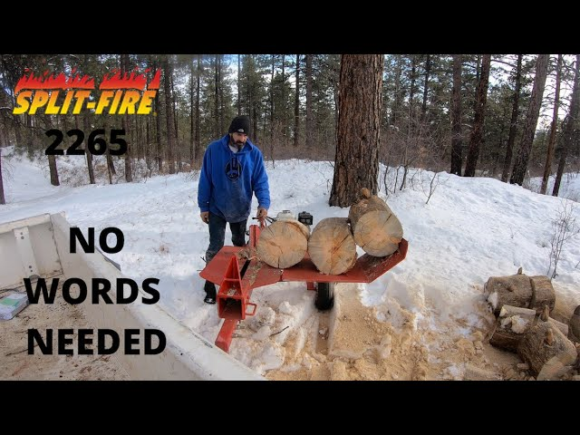 SLITFIRE 2265 WOOD SPLITTER NO WORDS NESSSESARY