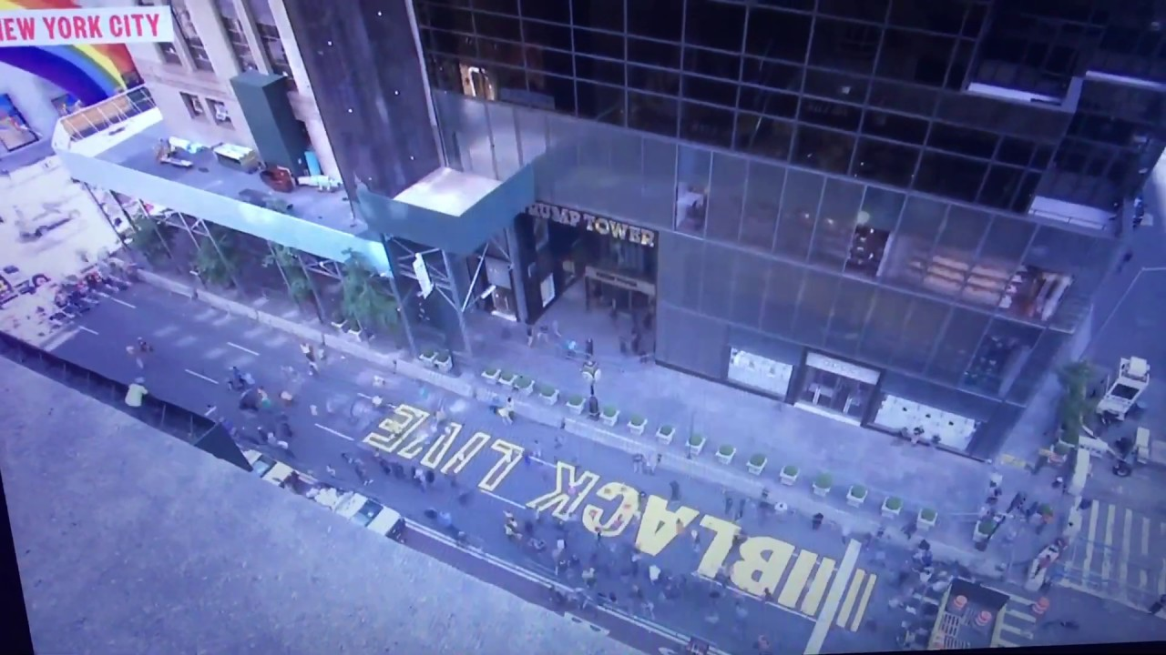 BLM Painted in Front Of Trump Tower