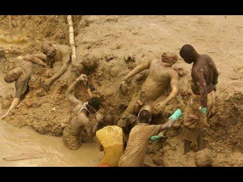 Galamsey Pit Buries Fourteen24 Illegal Miners Alive
