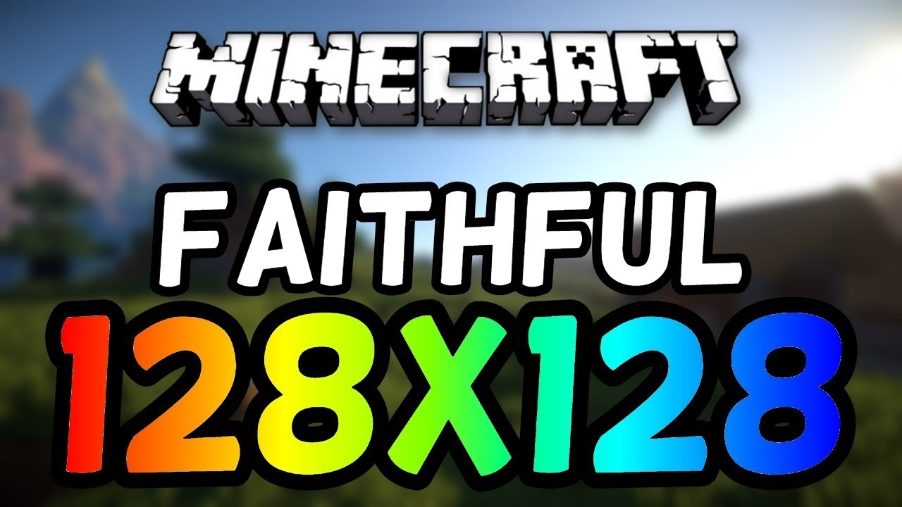 How To Install Faithful 128x128 Minecraft Texture Pack! (ANY