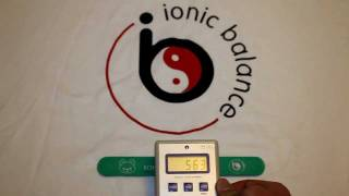 Ionic Balance Snap Band Negative Ion Test