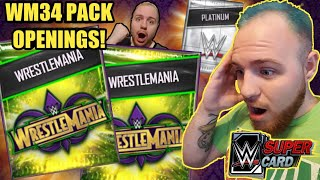 OPENING WRESTLEMANIA 34 PACKS PLATINUM PACK OPENING W WM34 PULL Noology WWE SuperCard Season 4