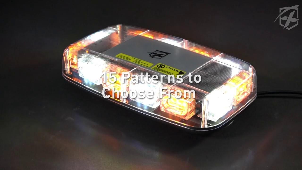 Xprite 6 COB LED Emergency Roof Top Mini Oval Bar Amber Whit Strobe Light Flash