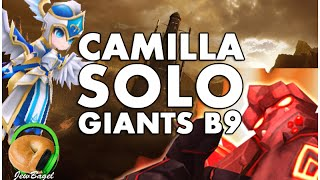 SUMMONERS WAR : Giants B9 SOLO with Camilla (water Valkyrja)