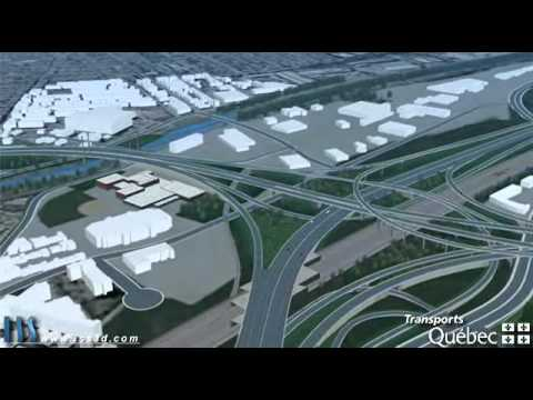 New Turcot Interchange - Simulation aérienne du projet Turcot