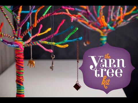 Attractive Craft Tastic Yarn Tree Kit   YouTube
