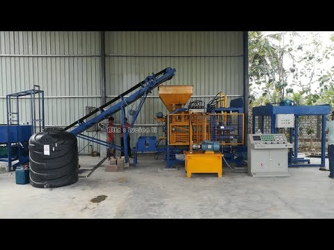 QT4 18 cement block maker machine, automatic hydraulic concrete block gal machine sri lanka