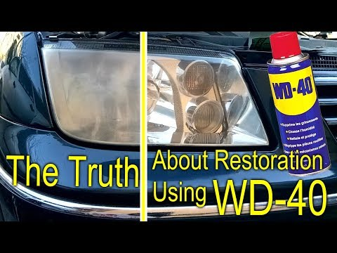 The Truth About Headlight Restoration Using WD 40